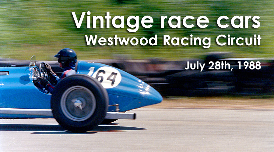 July 28th, 1988 -- Vintage race cars at Westwood Racing Circuit in Coquitlam.