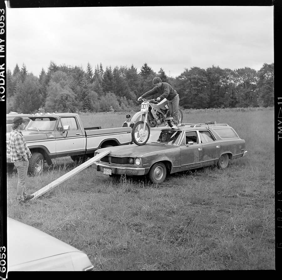 Motocross bike on car