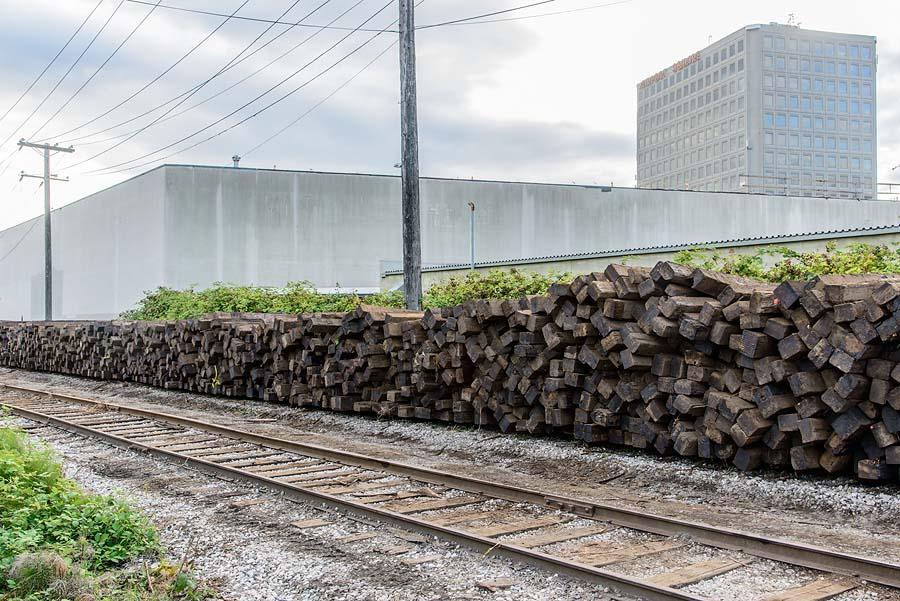 Railway ties from Arbutus Corridor