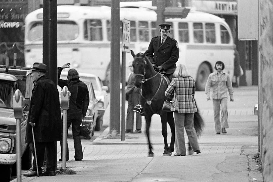 Mounted policeman