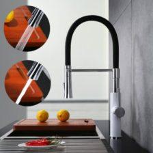 Mischbatterie Küche Schwarz von Homelody, 360° drehbar
