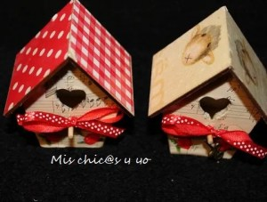 casa nido decorada papel