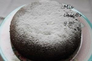Bizcocho nevado de chocolate