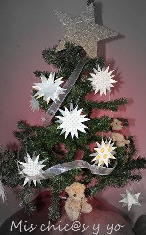 Estrellas para el árbol Navidad