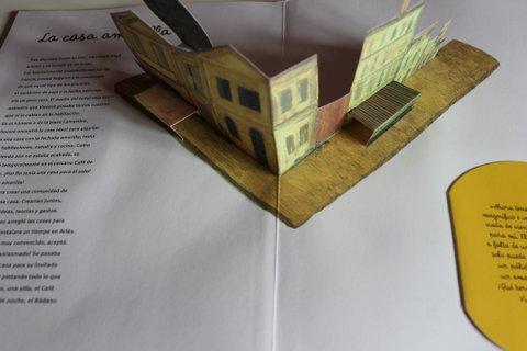 Libro con desplegables, Van Gogh, editorial Combel