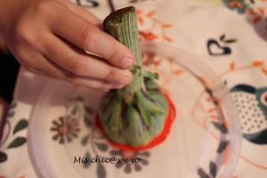 Estampar con alcachofas
