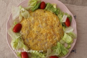 Receta tradicional de tortilla judias