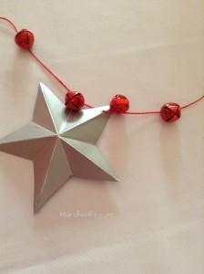 Decoración: estrella de papel para Navidad