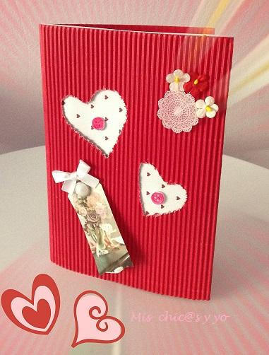 Manualidad de tarjeta para San Valentin