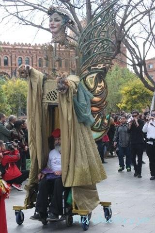Gigantes, desfile en Barcelona