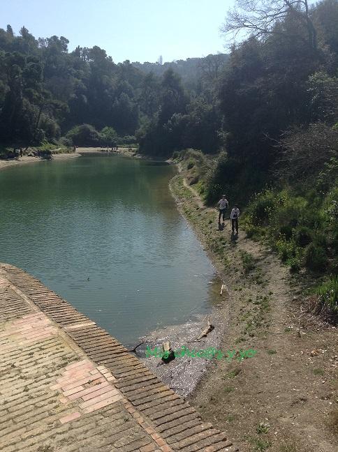 senderismo Collserola pantano de Vallvidrera