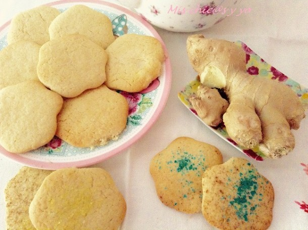 Galletas de mantequilla con canela y jengibre