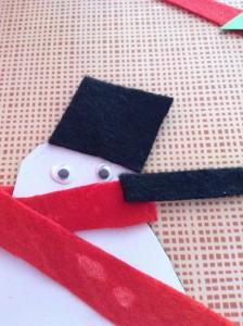 Imán de muñeco de nieve