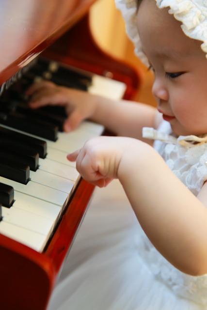 Instrumentos musicales, bebés