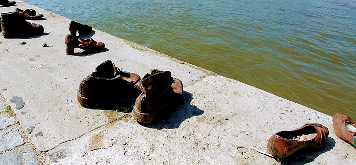 Zapatos judíos, Danubio, Budapest