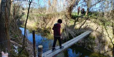 Pequeño puente en camí del riu de sant sadurni