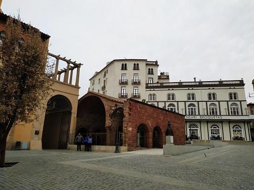 Se ve el museo, las termas y parte del antiguo hospital
