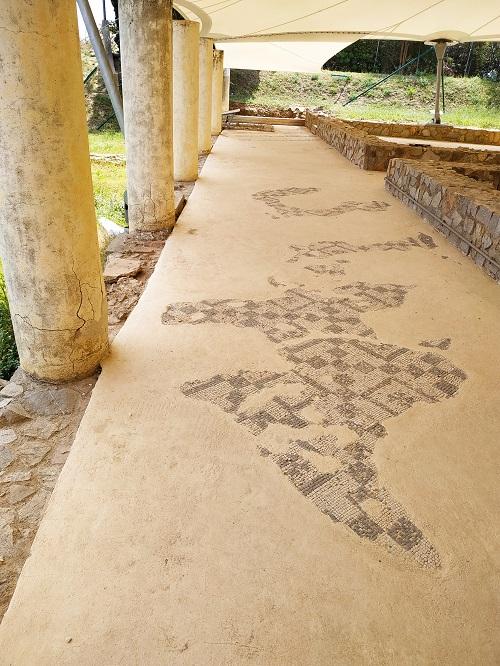 Peristilo de la villa romana Torre Llauder