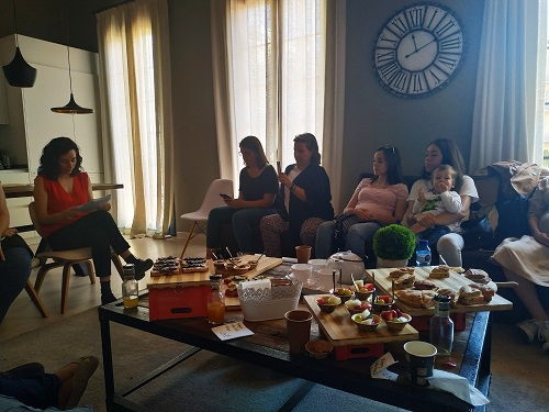 Blogueras durante el evento Airbnb