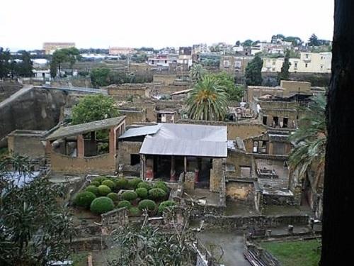 Antigua Herculano, vista desde arriba