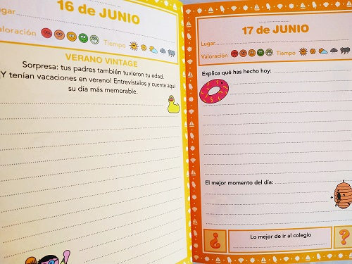 Páginas interiores mi diario de verano