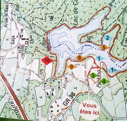 plano del lago Cavayere