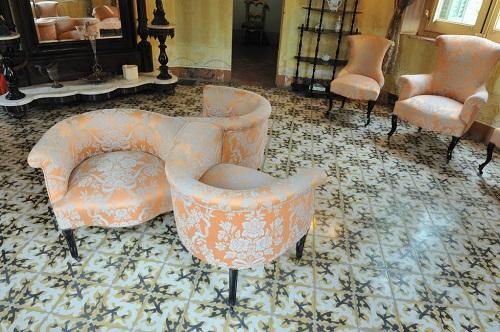 Detalle de las sillas, Museu Palau Mercader