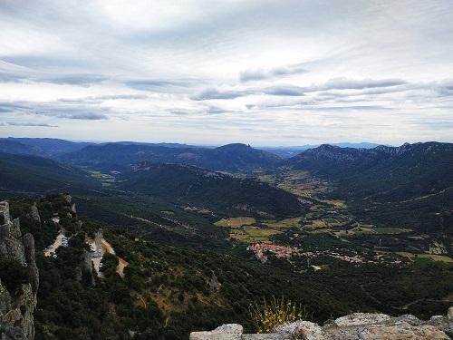 Vistas, Pirineos, Peyrepertuse