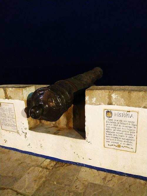 Réplica de cañón, Sitges