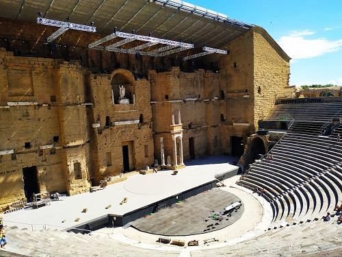 Gradas del teatro romano, Orange
