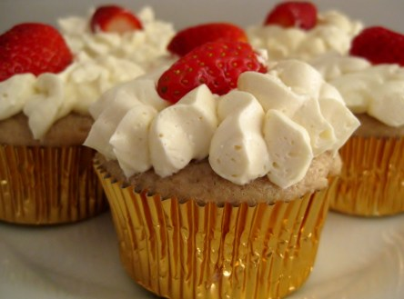 Sparkling Strawberry Cupcake