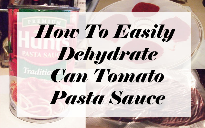 How To Easily Dehydrate Can Tomato Pasta Sauce