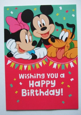 Hallmark Greetings at Dollar Tree. Happy Birthday greeting card from Hallmark Disney