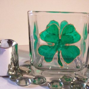 Shamrock Clover Candle Holder
