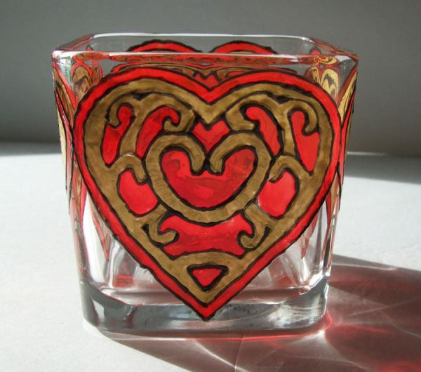 Red Heart Candle Holder, Legend of Zelda Twilight Princess Heart Container
