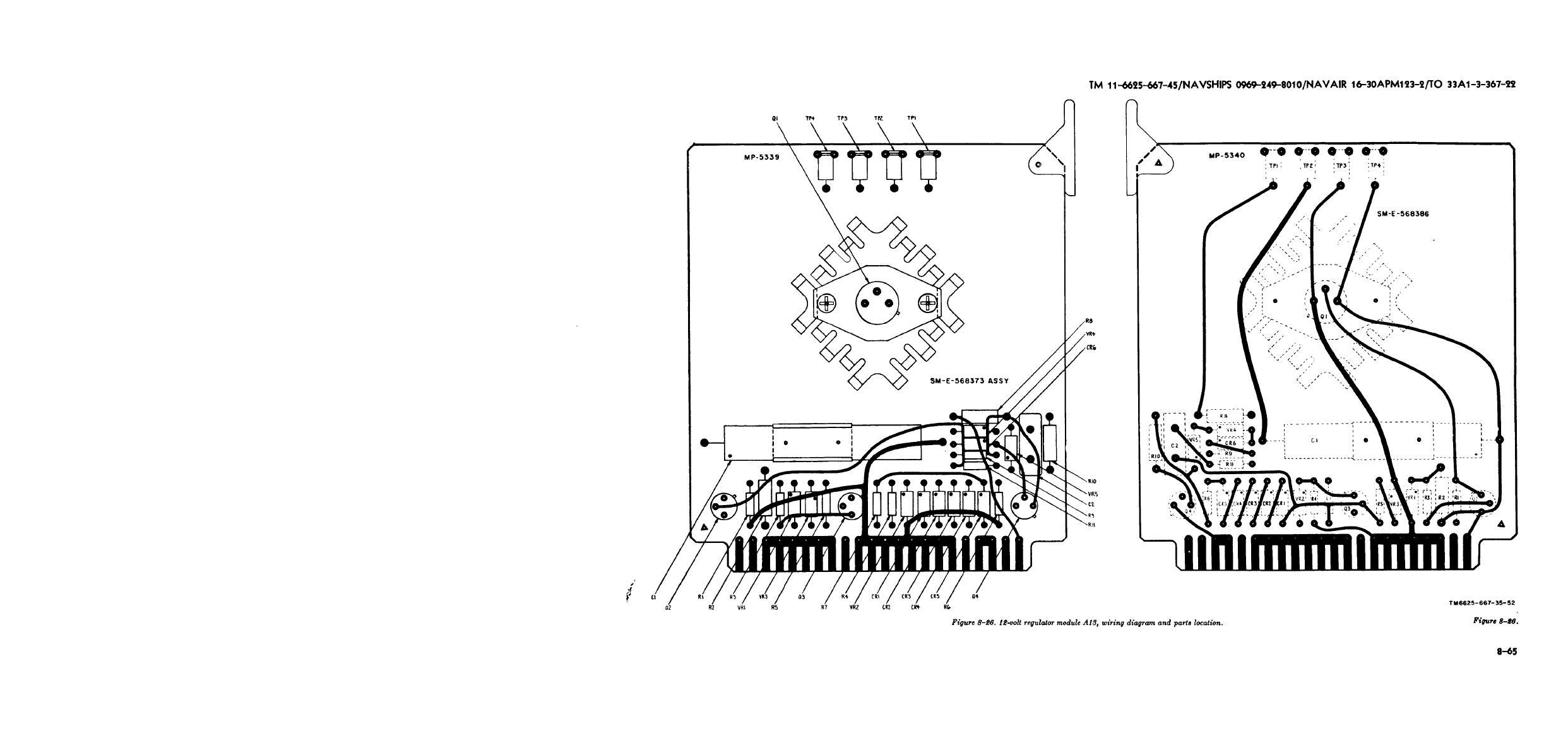 Figure 8 26 12 Volt Regulator Module A13 Wiring Diagram