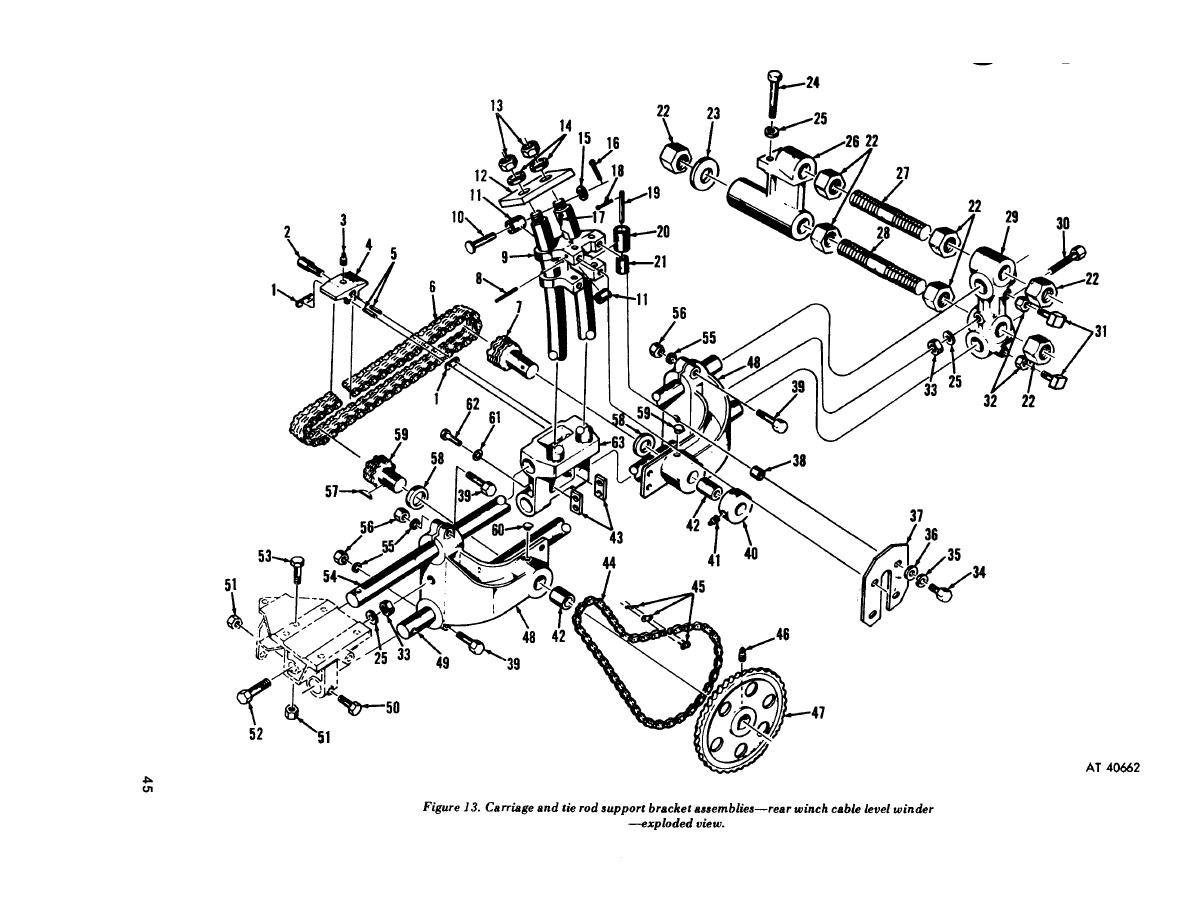 Figure 13 Carriage And Tie Rod Support Bracket Assemblies