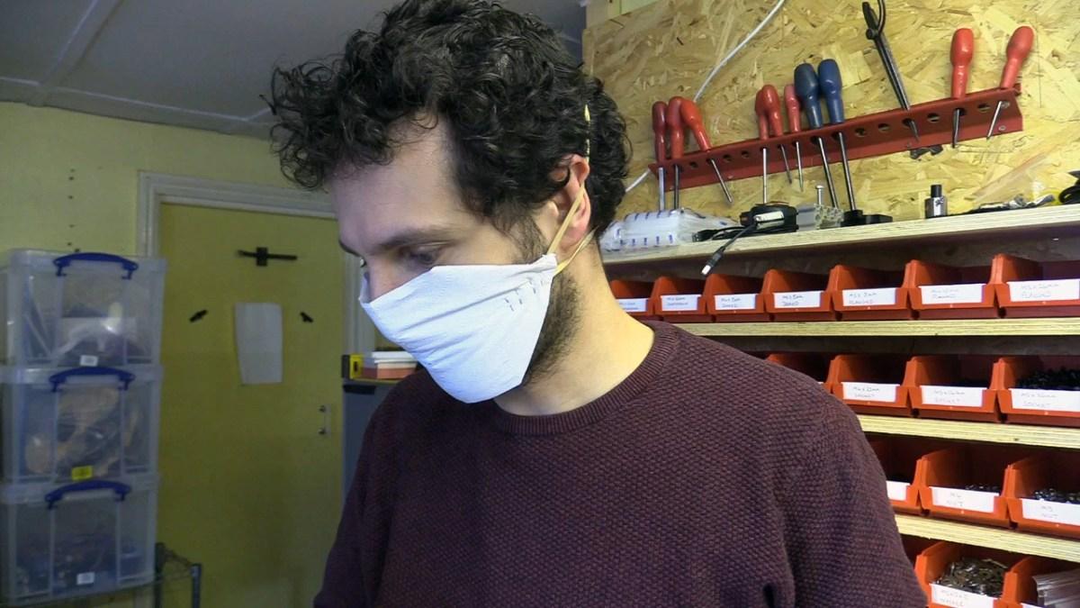 Toilet Paper Face Mask
