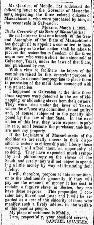 Barre Gazette Mar 26, 1852