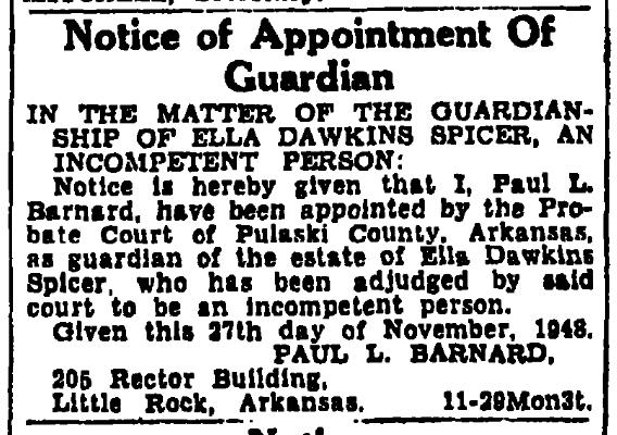 EllaDawkins 6Dec1948 LittleRock ArkansasGazette