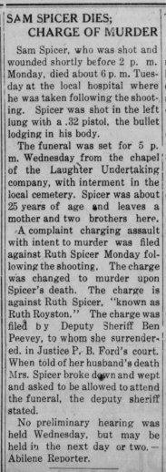 Ruth Spicer Charged