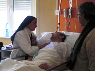 Les visites à l'hôpital.