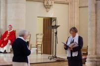 Sr Monique, ancienne supérieure du Bon Secours de Chartres, demande la fusion a Sr Reine-Claude, supérieure générale des Sœurs de la Miséricorde de Sées.