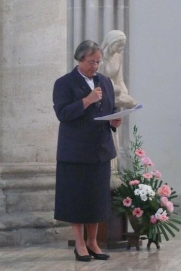 Sr Reine-Claude Bénard, supérieure générale de la Congrégation