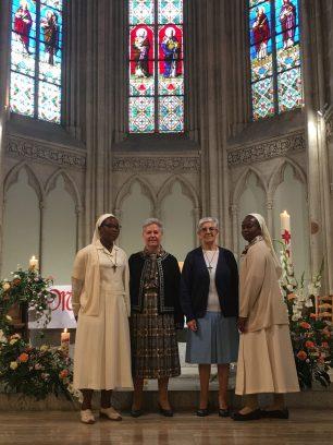 Sr Augustine, Sr Maria-Luisa, Sr Purification et Sr Pierrette