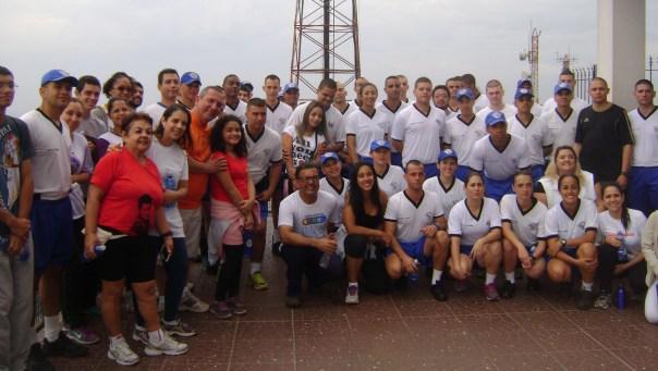 Participantes no Alto do Pico do Jaraguá