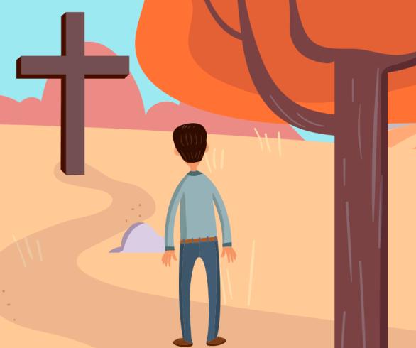 ilustração de uma pessoa num caminho