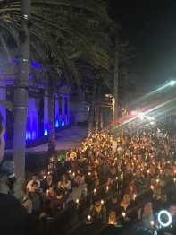Marcha seguiu pela Av. Brasil até a Praça da Paz.