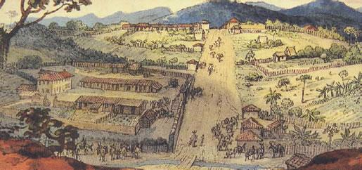 Aquarela-de-JB debret-Guaratingueta de 1827