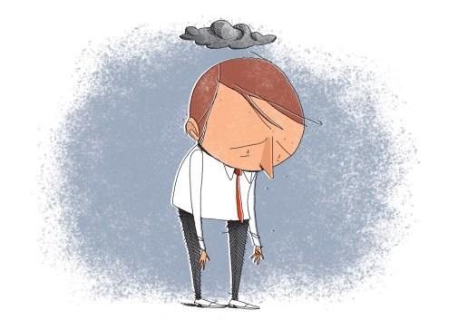 Animação que representa a depressão